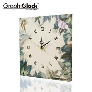 ファブリックパネル 掛け時計 Thicket-Little bird- 壁掛け時計 北欧 置時計 ファブリック時計