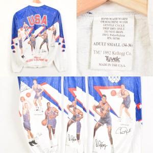 90年代 バルセロナ五輪ドリームチーム USA製 ペーパージャケット メンズXS〜S TYVEK 【170212】 1992 /wex8132