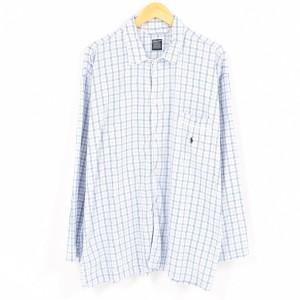 ラルフローレン SLEEPWEAR チェック柄 長袖 パジャマシャツ メンズM Ralph Lauren 【170902】 /wad2838