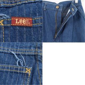 リー Lee RIDERS ライダース ストライプ柄 タック テーパードジーンズ デニムパンツ USA製 レディースM(w25) /waf4684