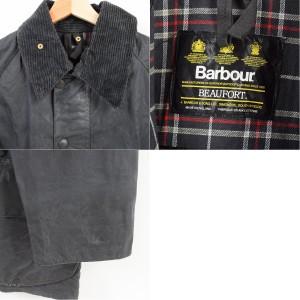 JAMリメイク 80〜90年代 バブアー Barbour BEAUFORT ビューフォート 旧3ワラント ワックスコットン オイルドジャケット 英国製 /waf9772