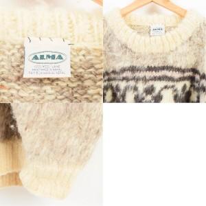 ALMA ネイティブ柄 ウールニットセーター メンズXL 【171002】 /waj9007