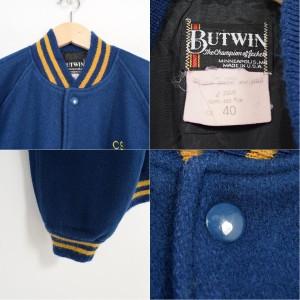 80年代 BUTWIN ウールスタジャン アワードジャケット USA製 メンズL ヴィンテージ 【171002】 /wag8245