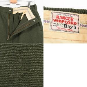 50~60年代 RANGER WHIPCORD ワークパンツ メンズw33 ヴィンテージ Day's 【171002】 /wag8254