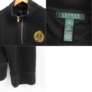 ラルフローレン Ralph Lauren LAUREN ローレン ハーフジップスウェットシャツ トレーナー レディースM 【171002】 /waj8305