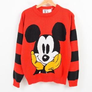 Mickey&Co. MICKEY MOUSE ミッキーマウス アクリルニットセーター レディースXL 【171002】 /waj8341