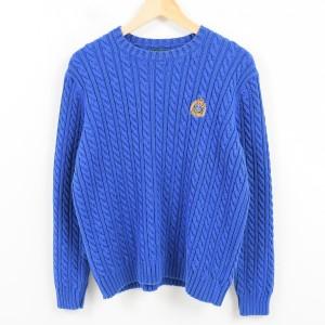 ラルフローレン Ralph Lauren LAUREN ローレン ケーブル編み コットンニットセーター オーストラリア製 レディースL /waj8359