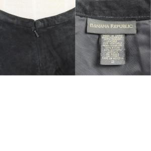 バナナリパブリック BANANA REPUBLIC アシンメトリー 本革スエードレザー ロング タイトスカート レディースM 2 /wak7059