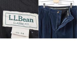 エルエルビーン L.L.Bean 太畝 フラップポケット ツータック コーデュロイパンツ メンズw34 【171105】 /waj4659