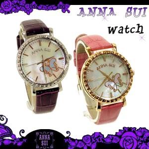 【リクエスト販売商品/送料無料】 Anna Sui アナスイ マザーオブ パール 文字盤腕時計 全2色 ウォッチ 箱付き 保証書付き