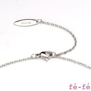 【fe-fe フェフェ】ステンレス ネックレス ペア ペンダント スーパースチール ダイヤモンド fe-270&271