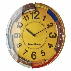 ▼掛け時計 Ruler&Ruler ルーラールーラー CL-9584 【TC】【掛時計 時計 掛け時計 おしゃれ 北欧 アンティーク かわいい クロック 北欧】