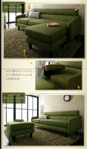 【g5710】Olivea Couch sofa カウチソファ ソファ 3人掛け 3P ファブリック 北欧 オシャレ カウチ シンプル
