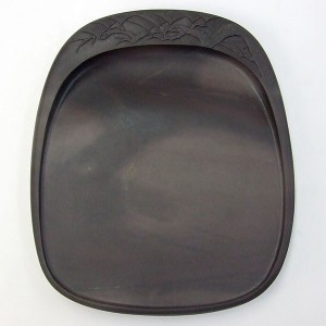 【訳あり】端渓 坑仔岩 彫松硯 7吋