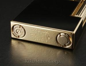送料無料!S.T.Dupont エス・テー・デュポン ライター ライン2 ブラックラッカー(漆) ゴールドプレート 16884 ラッピング無料