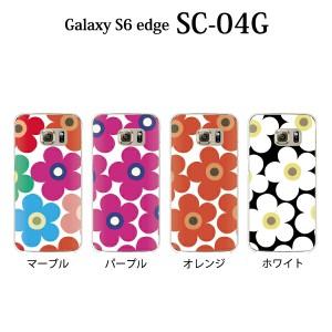 フラワー Galaxy S6 edge SC-04G SCV31 やわらかい TPU ケース カバー