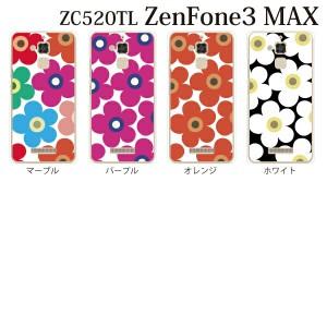 スマホケース ZenFone3 MAX (ZC520TL) カバー ハード/ゼンフォン カバー/ケースクリア フラワー 花