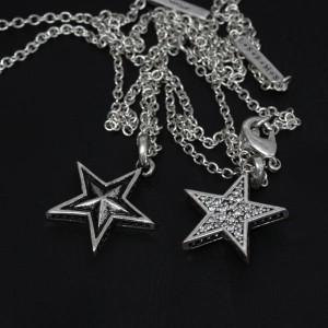 Roen BLACK ネックレス  ロエン ブラック ペンダント STAR シルバー×キュービックジルコニア  RO-601 アクセサリー ジュエリー