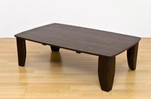 【送料無料!ポイント2%】木目がキレイな折りたたみ式テーブル!浮造りセンターテーブル スクエア 120cm幅