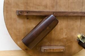 【送料無料!ポイント2%】折りたたみ式丸テーブル!木目がキレイ!浮造りセンターテーブル 80