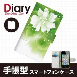 iPhone 4S/アイフォン フォーエス用ブックカバータイプ(手帳型レザーケース)フラワー iPhone4S-FLT117-2
