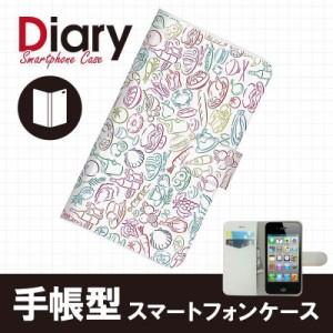 iPhone 4S/アイフォン フォーエス用ブックカバータイプ(手帳型レザーケース)パステル iPhone4S-PST034-2