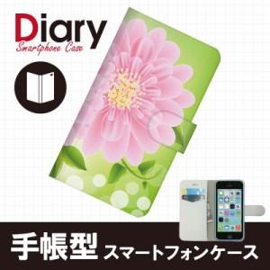 iPhone 5c(アイフォン5c)用ブックカバー(手帳型レザーケース) フラワー 花柄 iPhone5c-FLT080-2