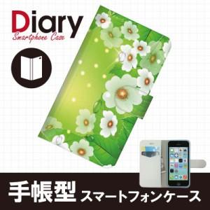iPhone 5c(アイフォン5c)用ブックカバー(手帳型レザーケース) フラワー 花柄 iPhone5c-FLT083-2
