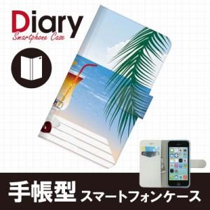 iPhone 5c(アイフォン5c)用ブックカバー(手帳型レザーケース) サマー iPhone5c-SMT027-2