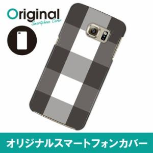 Galaxy S6 edge SC-04G/SCV31/404SC ケース カバー オリジナルブランド スマホハードケース/チェック