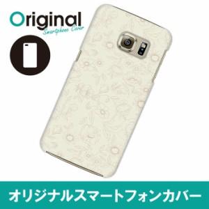 Galaxy S6 edge SC-04G/SCV31/404SC ケース カバー オリジナルブランド スマホハードケース/フラワー