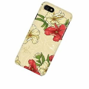 ドレスマ フラワー 花柄 カバー ケース スマホ ハード iPhone 7専用