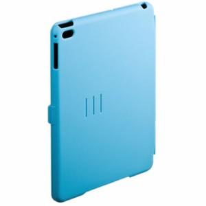 フラップの開閉でオン・オフが連動 iPadmini4ハードケース(スタンドタイプ・ブルー) サンワサプライ PDA-IPAD74BL