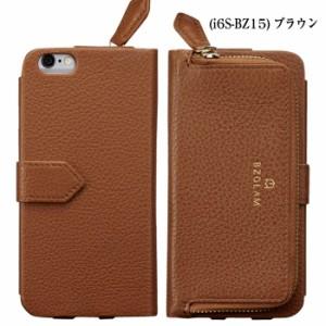iPhone6Plus iPhone6sPlus対応 カバー BZGLAM レザーコインカバー(ブラウン)本革 お財布一体型 おしゃれ 高級感 ビジネス i6S-BZ15