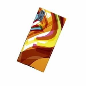 ドレスマ 抽象 カバー ケース スマホ ハード Xperia XZ SO-01J専用