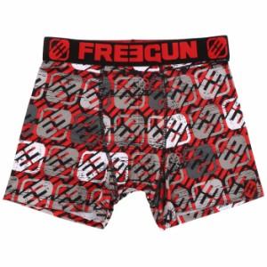 FREEGUN フリーガン メンズ ボクサーパンツ PAT RED Mサイズ インナー アンダーウェア 男性下着 プログレス 206M