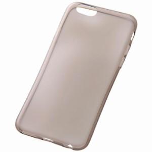 iPhone 6s/6 アイフォン シックスエス/シックス用ケース カバー 極薄ソフトケース(0.6mm) ブラック レイアウト RT-P9TC7/TB