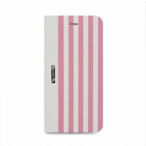 iPhone 6s Plus/6 Plus用ケース カバー STRIPE デザインPUレザーカバー ピンク LEPLUS LP-I6SPDLSRPK