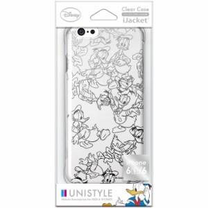 iPhone 6s/6 アイフォン6s用ケース/カバー 箔押しクリアケース ドナルドダック PGA PG-DCS056DND