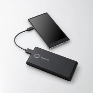 モバイルバッテリー 薄型 7000mAh 3.4A出力 ブラック エレコム DE-M01L-7034BK
