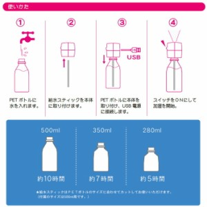 ボトル加湿器 キューブ αペットボトルに取り付けるコンパクトな加湿器 超音波式 ミスト状蒸気で加湿 トップランド M7095-M7096-M7097