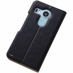 Google Nexus 5X グーグルネクサス5X ケース/カバー ディズニーホットスタンプブックレザー/ミッキー レイアウト RT-DNX5XI/MK