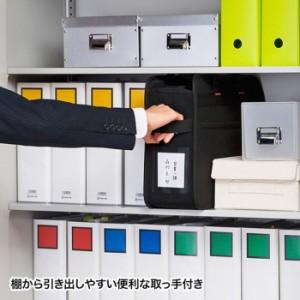 移動や保管に便利なBOX型バッグ 15.6型ワイドまでのノートパソコン対応 らくらくPCキャリーL サンワサプライ BAG-BOX3BK2