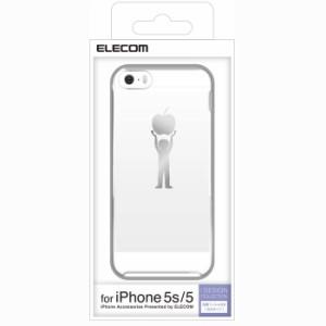 iPhoneSE/5s/5 アイフォンSE/5s/5 ケース/カバー シェルカバー アップルテクスチャ パワー エレコム PS-A12PVT04
