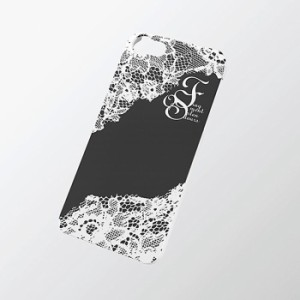 iPhoneSE/5s/5 アイフォンSE/5s/5 ケース/カバー シェルカバーfor Girl レース(ブラック) エレコム PS-A12PVG06