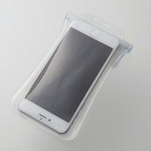 スマートフォン用防水・防塵ケース エアバックつき水没防止タイプ 5.5インチまでのスマホに対応(Lサイズ) ホワイト エレコム P-02WPS2WH