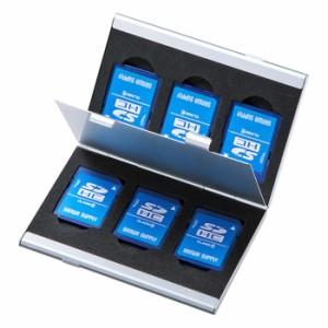 """""""microSD収納トレー付きの丈夫でスタイリッシュなアルミ製のメモリーカードケース SDカード用 両面収納タイプ サンワサプライ FC-MMC5S.."""
