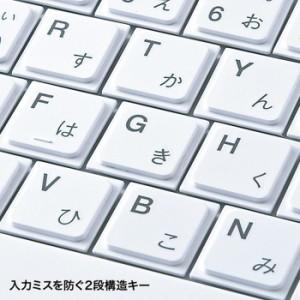 無駄を省いた薄型&コンパクトキーボード テンキーなし ホワイト サンワサプライ SKB-SL18WN