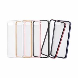 iPhone8/7 ケース カバー アルミバンパー+背面パネル(クリア) レイアウト RT-P14AB