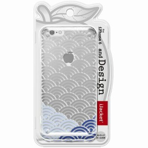 PGA iPhone6 4.7インチ用and Design クリアハードケース 銀箔/和柄波 PG-I6AD027